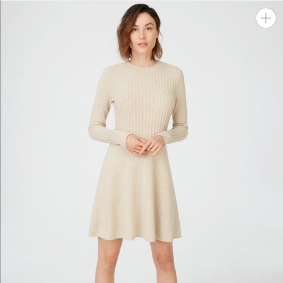274a9fa8d21 Club Monaco Raemi Sweater Dress OATMEAL